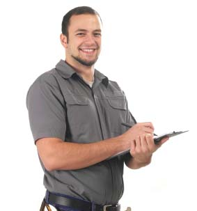 Man with Clipboard Smiling cropped
